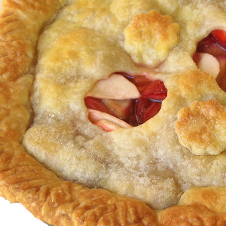 Apple pie mele e fragole vegan
