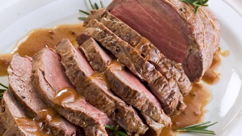 Arrosto di vitello con salsa ai carciofi