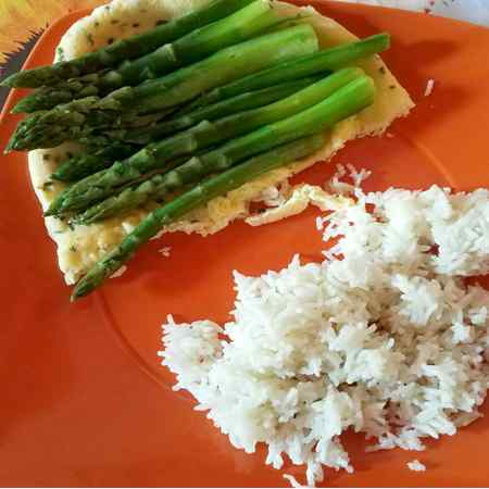 Asparagi riso e frittata