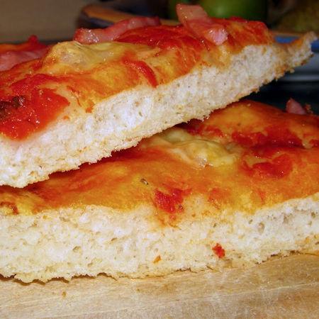 Base per pizza senza lievito