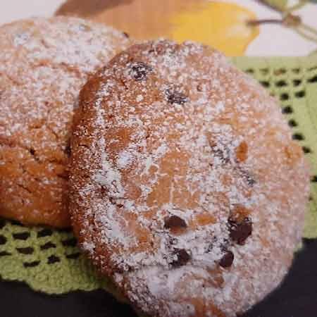 Biscotti al burro di arachidi e gocce di cioccolata