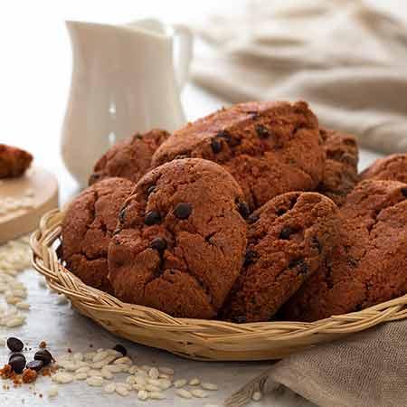Biscotti al cioccolato con farina di riso