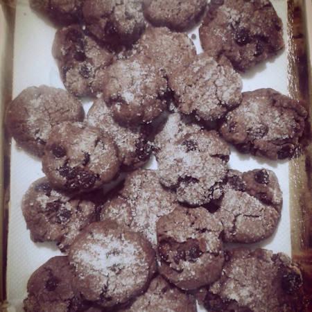 Biscottini cacao e uvetta