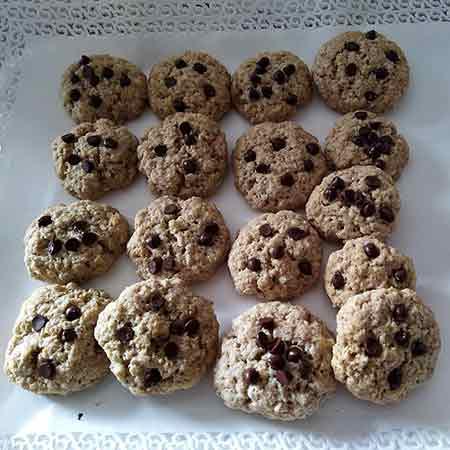 Biscotti cereali e cioccolato