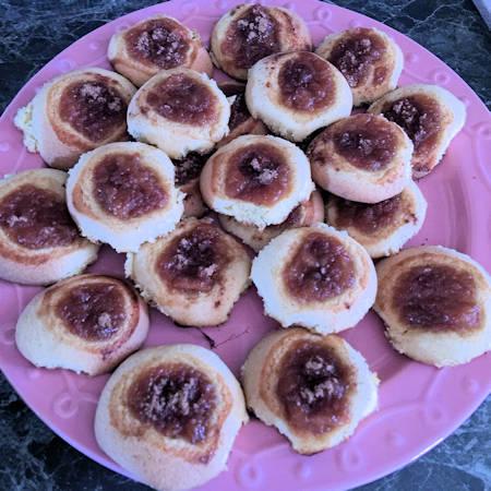 Biscotti cuore di mela e cannella