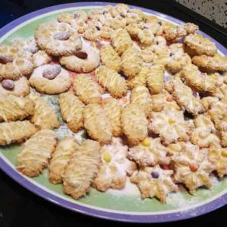 Biscotti di frolla montata al cocco