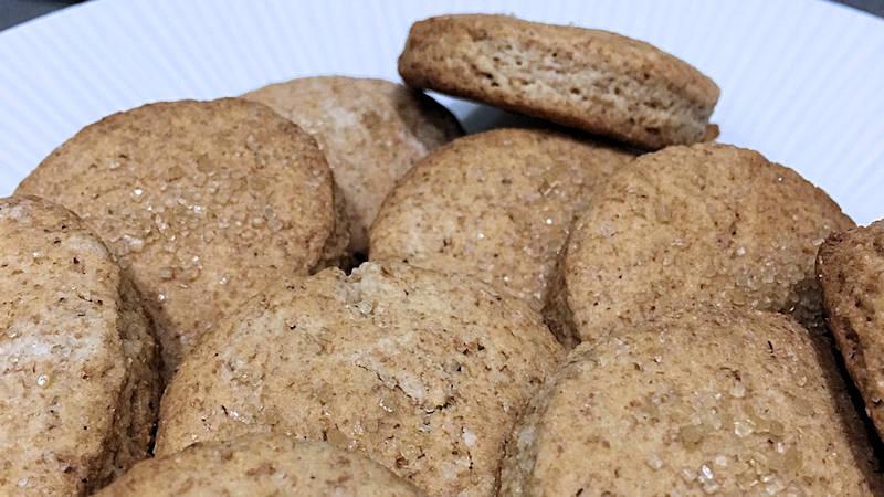 Biscotti integrali senza uova e latte