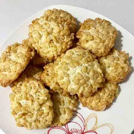 Biscotti riso soffiato e cocco