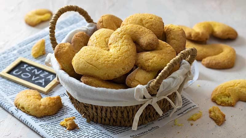 Biscotti serpette senza uova