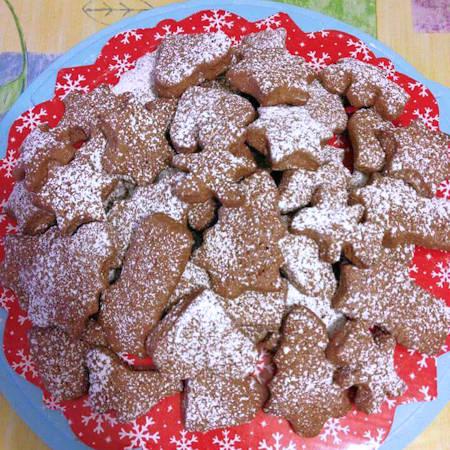 Biscottini di Natale al cacao