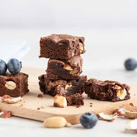 Brownies cioccolato e arachidi