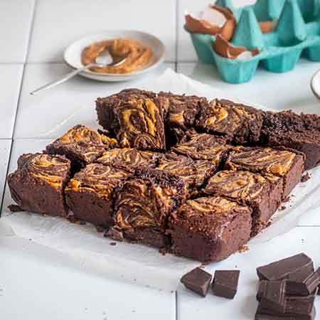 Brownies cioccolato e burro di arachidi