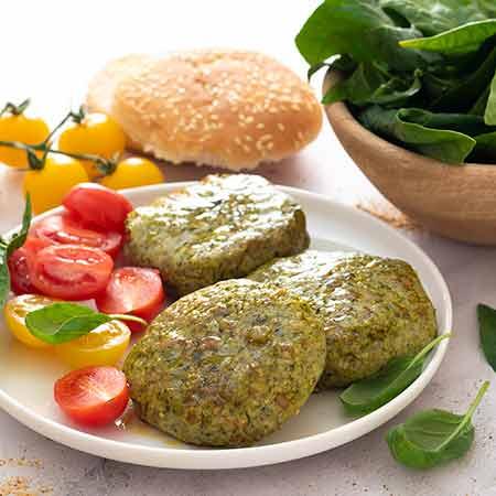 Burger di spinaci e ricotta