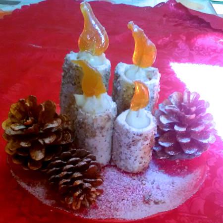 Candele natalizie (di Angela)