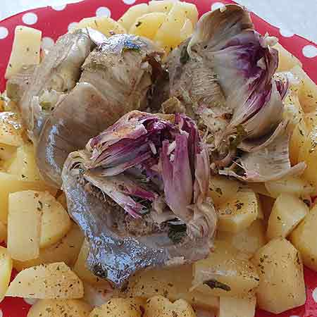 Carciofi e patate a Varoma