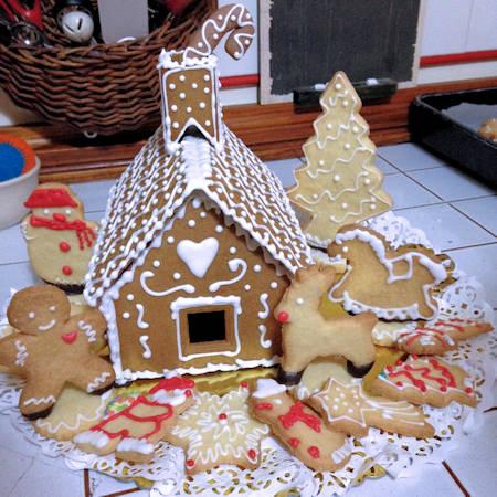 Casa biscottata di Babbo Natale