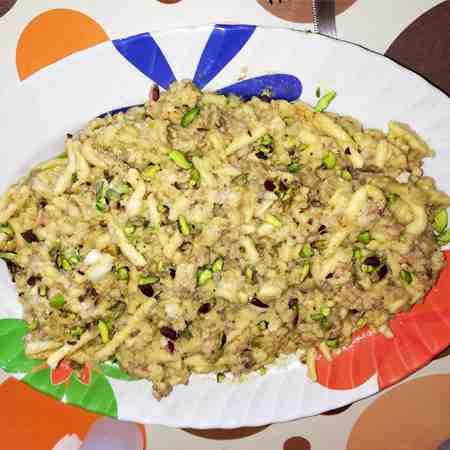 Caserecce salsiccia funghi e pistacchi