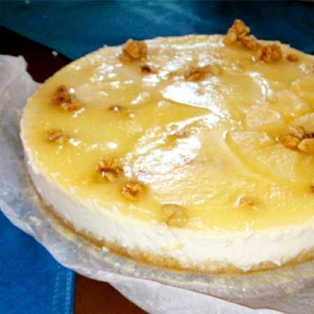 Cheesecake al mango e ananas