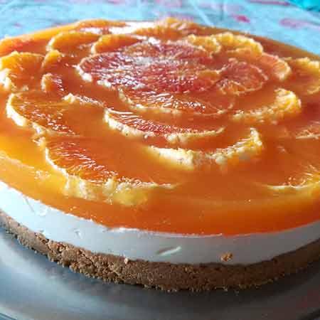 Cheesecake all'arancia