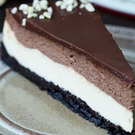 Cheesecake Nutella e Oreo doppio strato