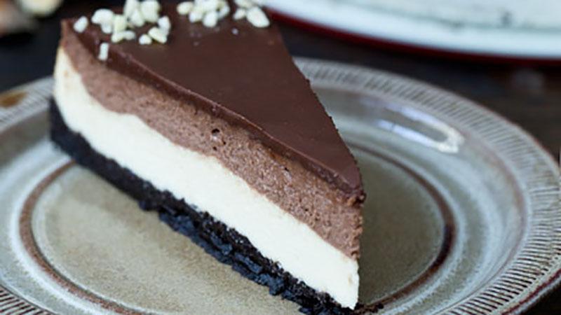cheesecake nutella e oreo doppio strato ricette bimby. Black Bedroom Furniture Sets. Home Design Ideas