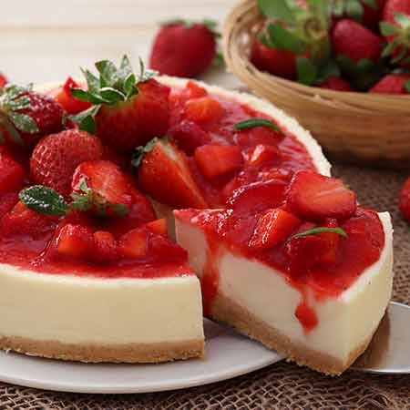 Cheesecake alle fragole al forno