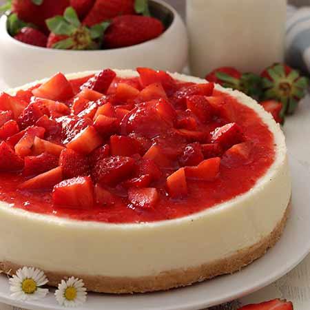 Cheesecake alle fragole senza gelatina