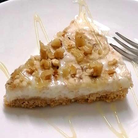 Cheesecake banana e noci