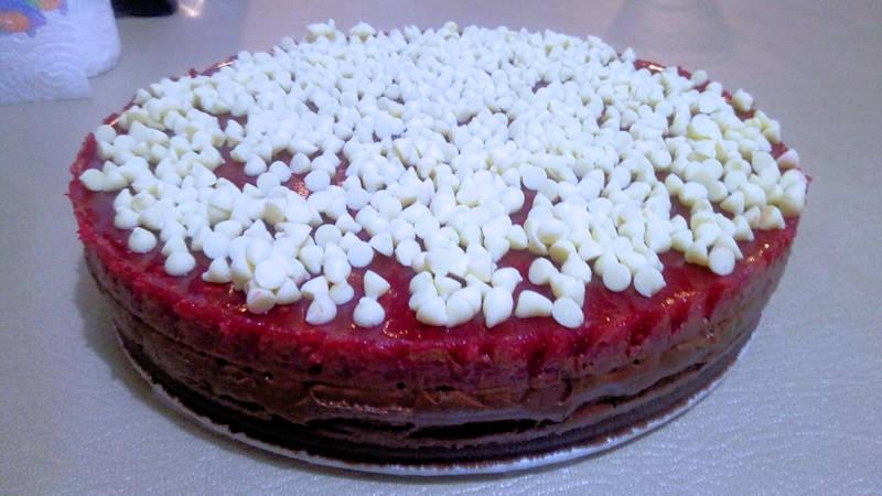 Cheesecake cioccolato fondente e lamponi