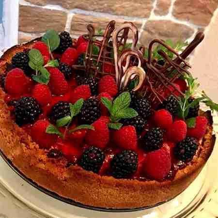 Cheesecake cotta con frutti di bosco