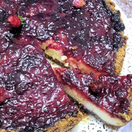 Cheesecake ricotta mascarpone e marmellata