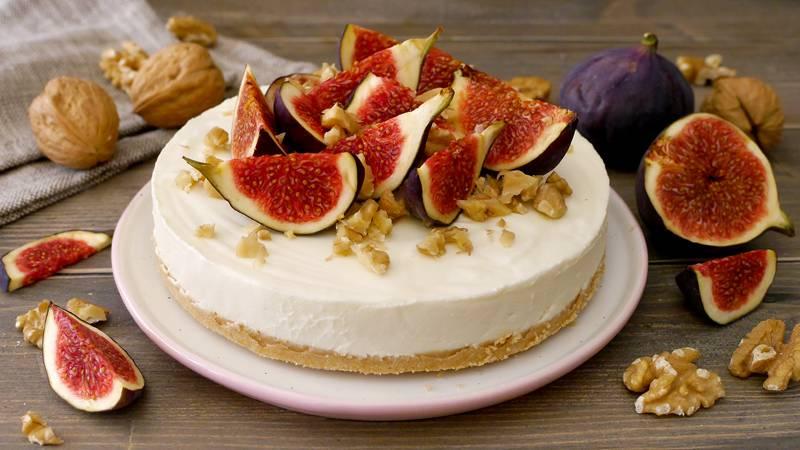Cheesecake fichi e noci