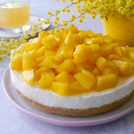 Cheesecake mimosa al mango