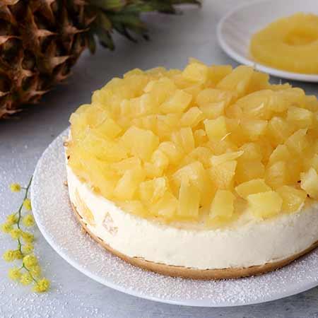 Cheesecake mimosa all'ananas