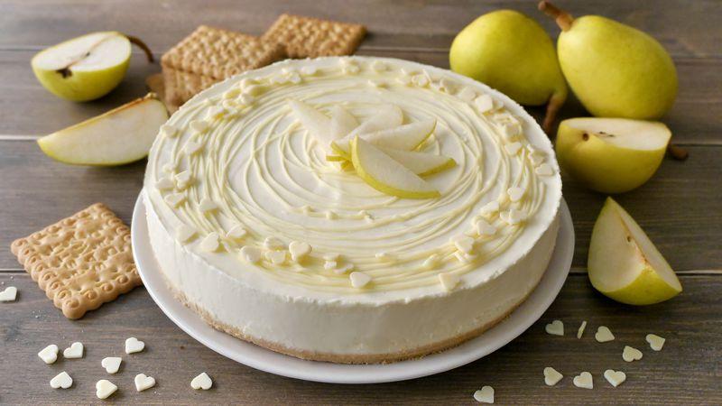 Cheesecake pere e cioccolato bianco