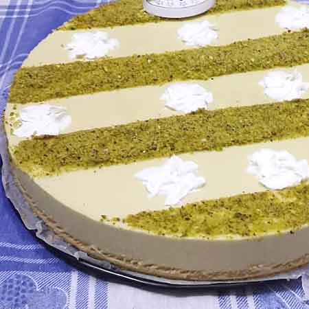 Cheesecake pistacchio e mascarpone