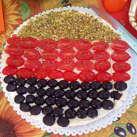 Cheesecake salata millecolori