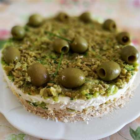 Cheesecake salata olive e zucchine
