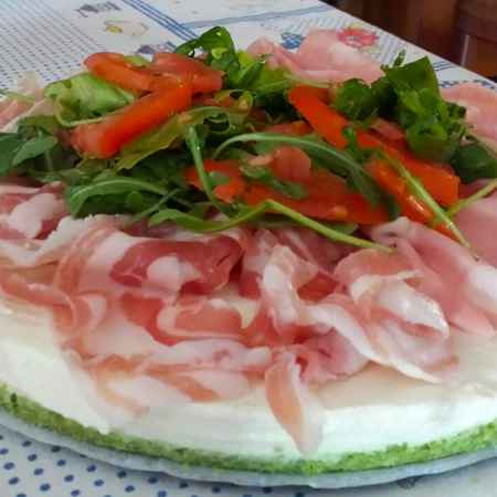 Cheesecake stracchino cotto e rucola