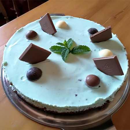 Cheesecake stracciatella e menta