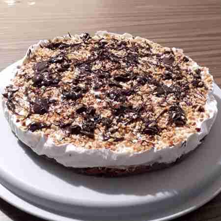 Cheesecake tela di cioccolato