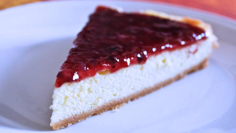 Cheesecake vegan con marmellata