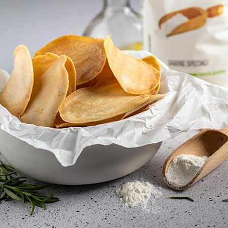 Chips con farina di riso