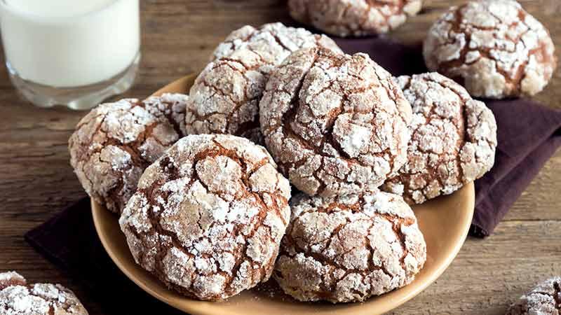 Chocolate crinkle dal cuore morbido