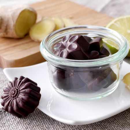 Cioccolatini allo zenzero e lime