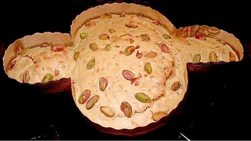 Colomba salata mortadella e pistacchi