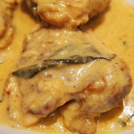 Cosciotti di pollo in crema di patate