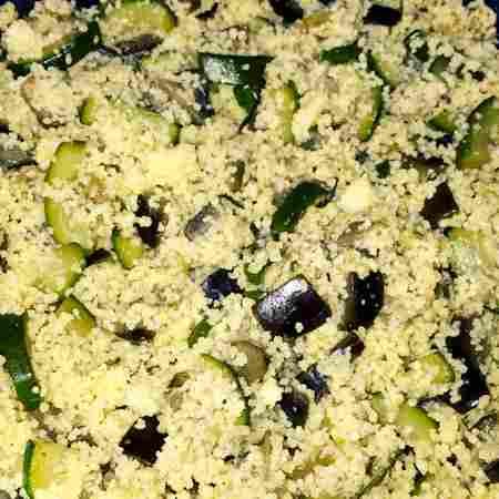 Cous cous zucchine e melanzane