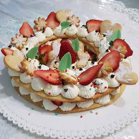 Cream tart alle fragole