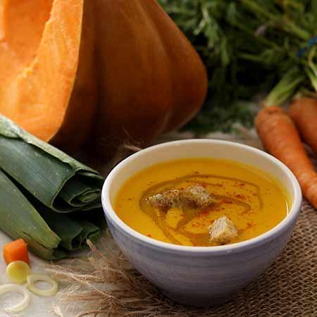 Crema di carote e zucca